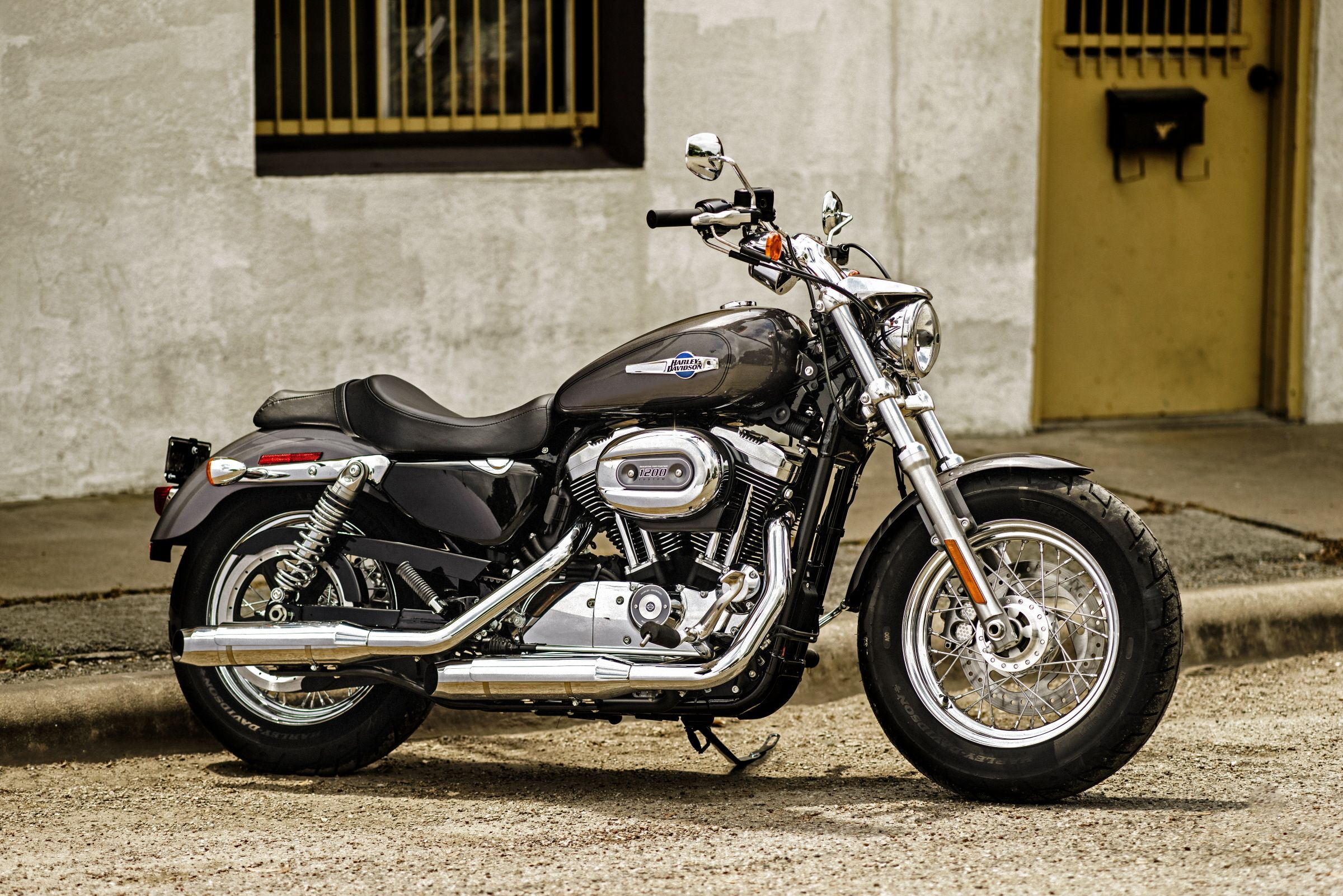 This is the sportster done with the kind of custom details only harley davidson brings to the street it s the ultimate wide shouldered custom cruiser