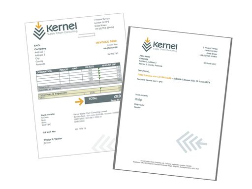 TEMPLATE Kernel Supply Chain Consulting (Invoice \/ Header Paper - invoice for consulting