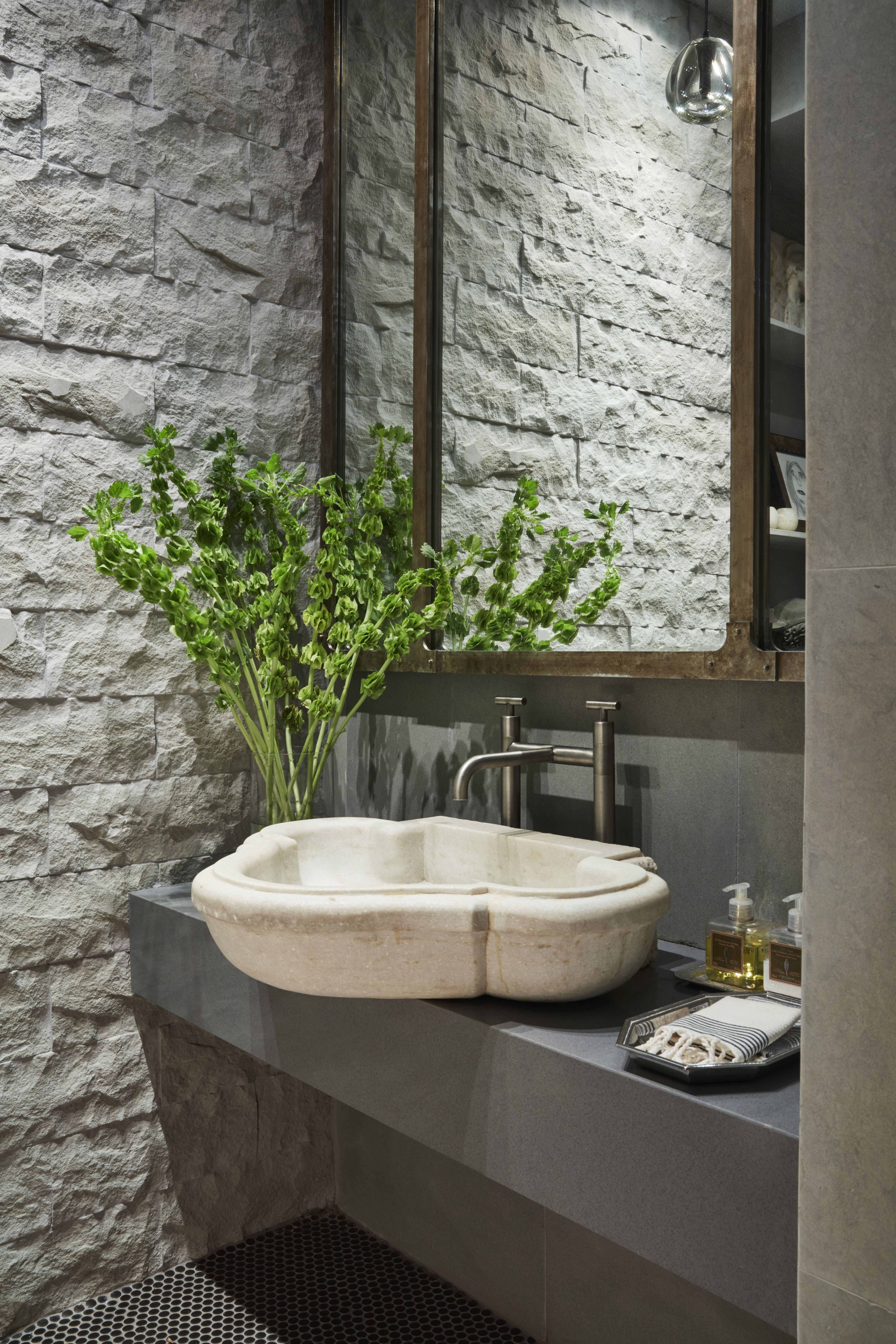 Principals Personal Residence Powder Room Luxe Magazine