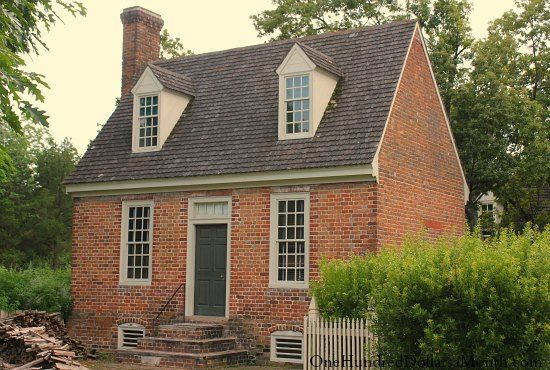 Homes Of Colonial Williamsburg Va Saltbox Houses