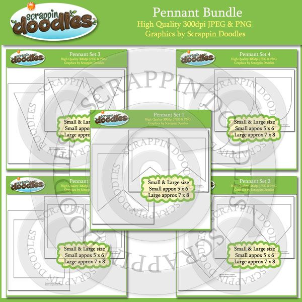 Pennant Template BUNDLE Download Clipart Pinterest Pennant