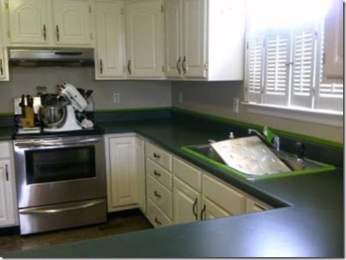 Green Laminate Kitchen Countertops With White Cabinets Green Kitchens With Wh Green Kitchen Backsplash Green Kitchen Countertops Kitchen Countertops Laminate