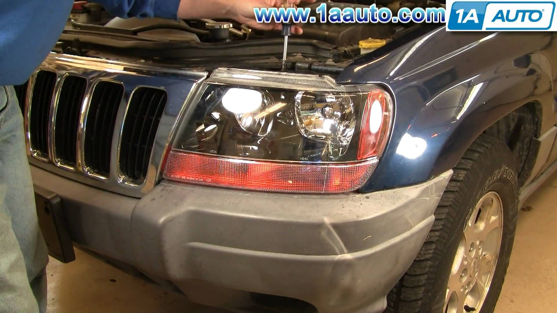 Learn how to replace the headlights in your Chrysler Jeep Grand Cherokee