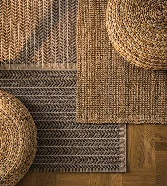 Woven Rugs And Stools Are Shown From Above Ikea Teppich Wohnzimmerteppich Wohnzimmer Teppich