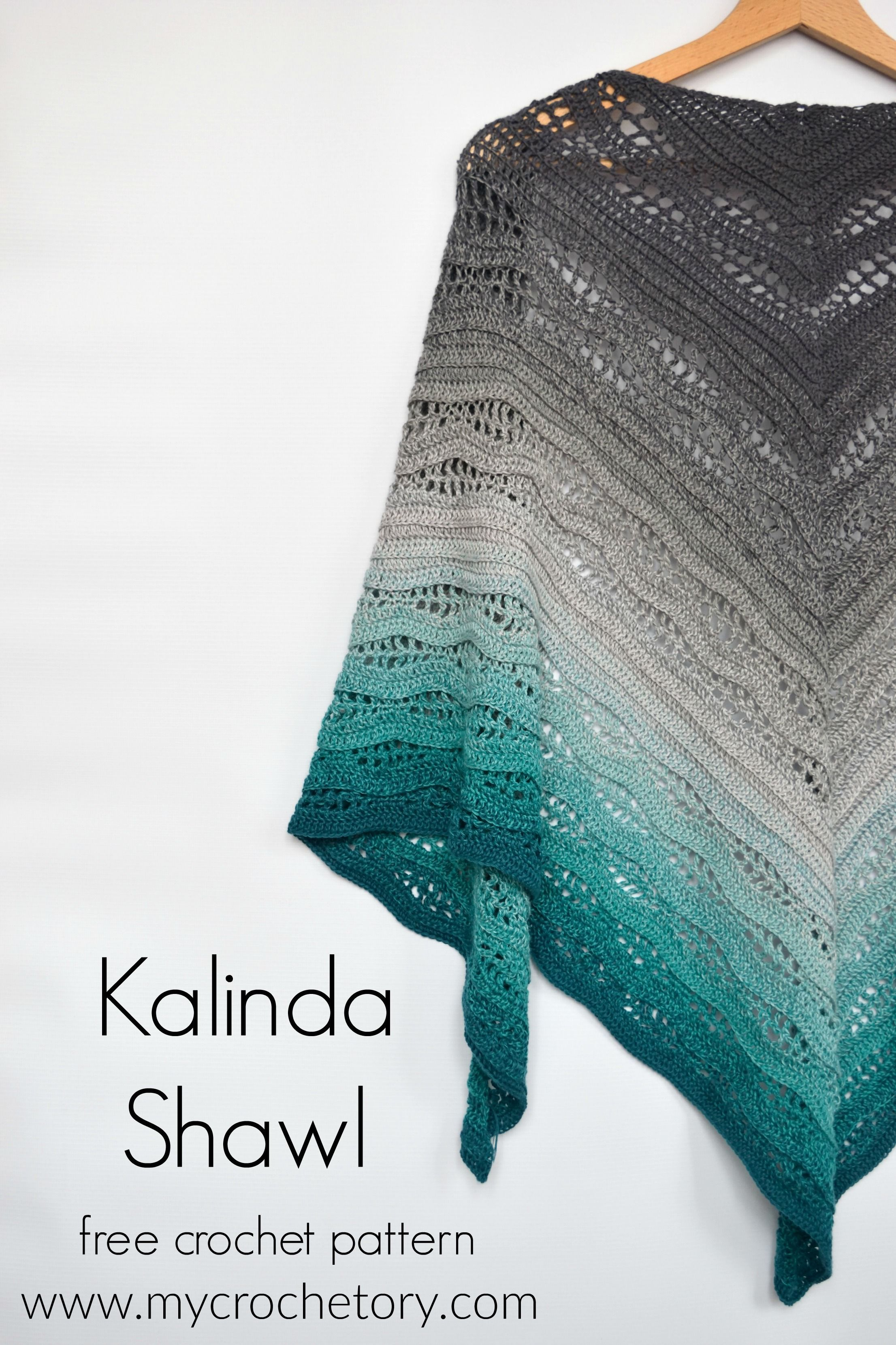 Kalinda Shawl - free crochet pattern by #shawlcrochetpattern