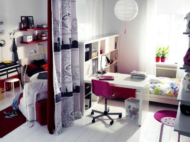 Jugendzimmer Einrichten Ideen Bilder Regalsystem Zimmer