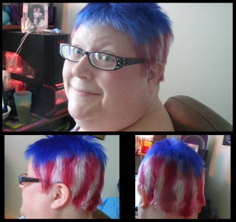 Patriotic Flair Using Splat Bodacious Blue A Mixture Of Crimson Obsession Cherry Pop And