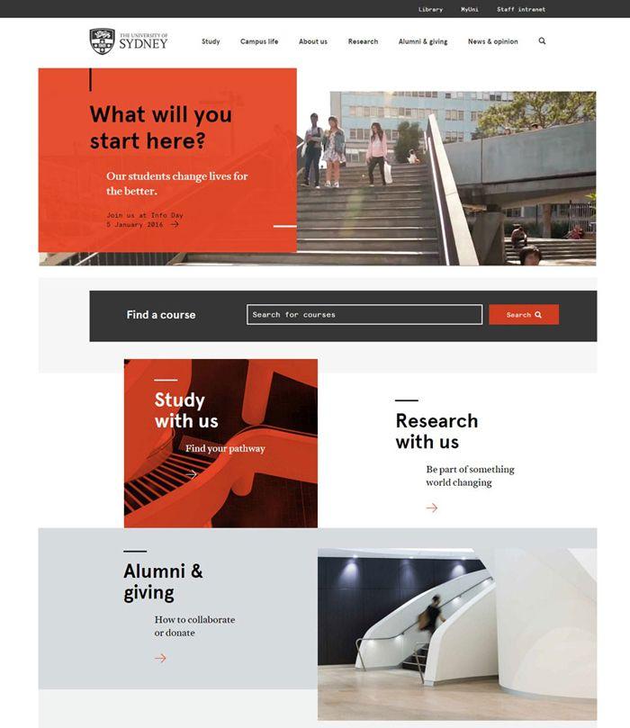 30 University And College Websites Inspiration Designyep Colleges And Universities University Website College Design