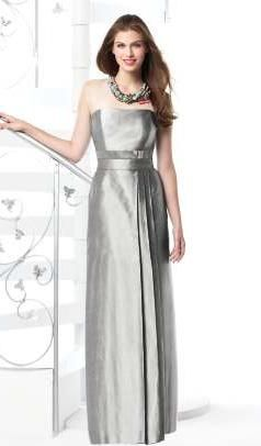 Moh Dessy Strapless Silk Shantung Long Bridesmaid Dress 2815 Image 272