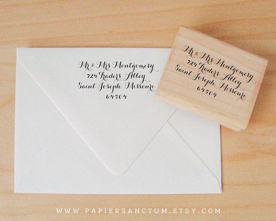Custom Rubber Stamp Wedding Return Address or Favor Stamp ...