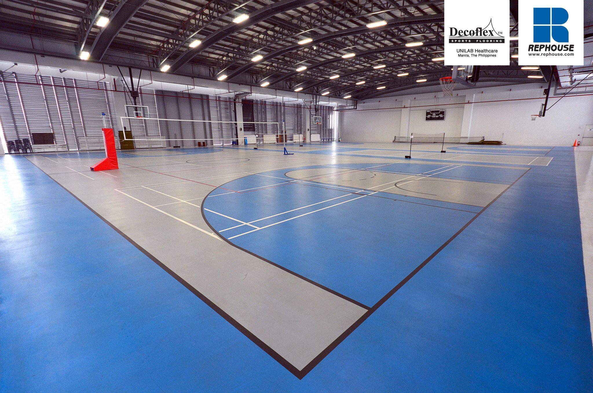 Decoflex Universal Indoor Seamless Polyurethane Sports Flooring Unilab The Philippines Indoor Sports Indoor Sports