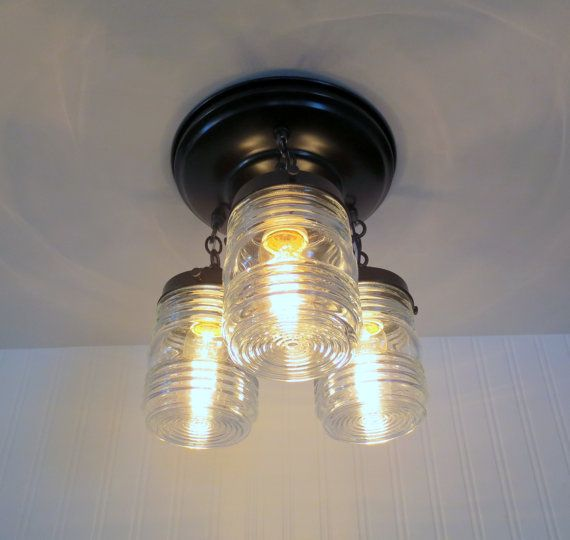 Flush Mount Dexter Trail Ceiling Light Trio Industrial