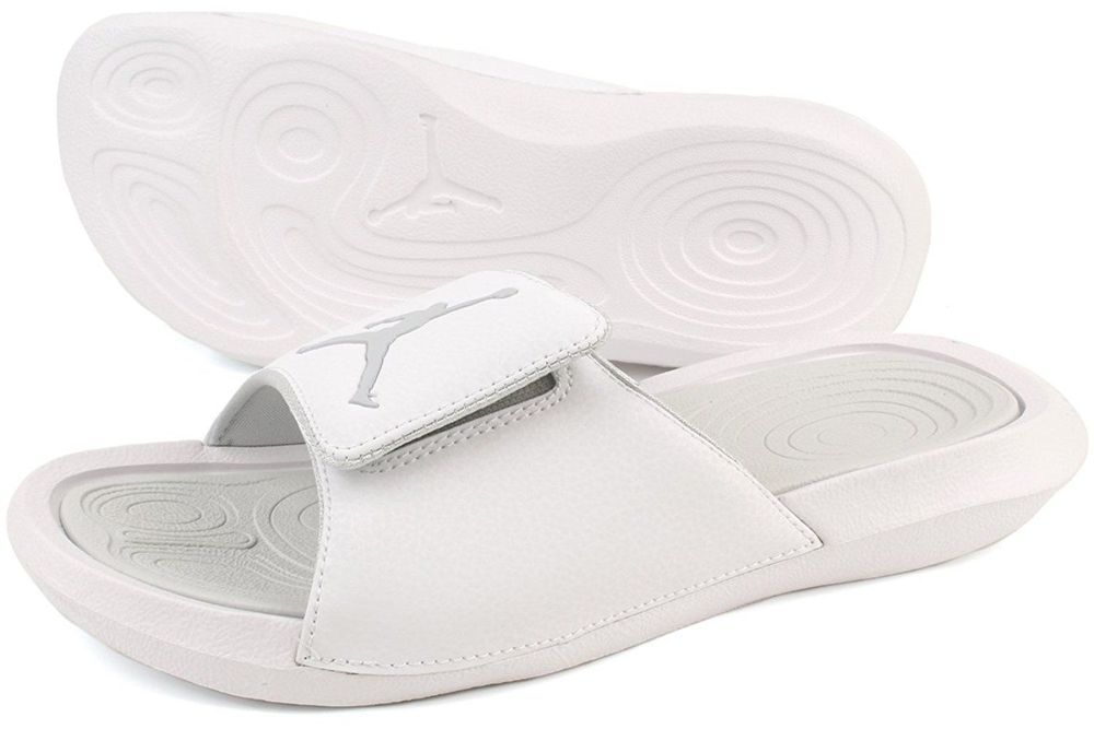 d59014d0e33 Jordan Hydro 6 Men s Slides Sandals 881473 120 White Platinum Sz 9-12 NEW in