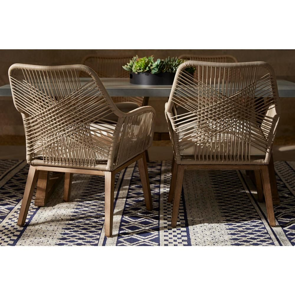 wicker outdoor patio dining chair
