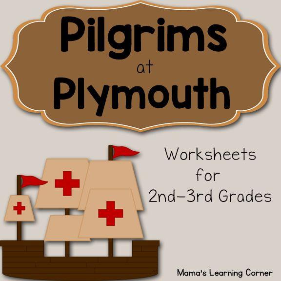 Pilgrims At Plymouth Worksheets Thanksgiving History Thanksgiving Lessons Thanksgiving Worksheets