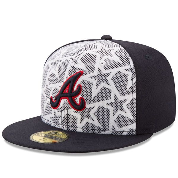 best service 8a25f a3faa Men s Atlanta Braves New Era White Navy Stars   Stripes 59FIFTY Fitted Hat,   37.99