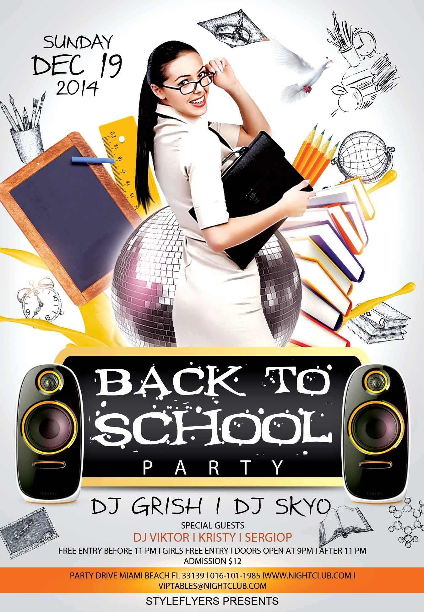 our back to school psd flyer template and arrange psd flyer template is an exclusive flyer template designed by styleflyers it s best solution for promoting your event party or business