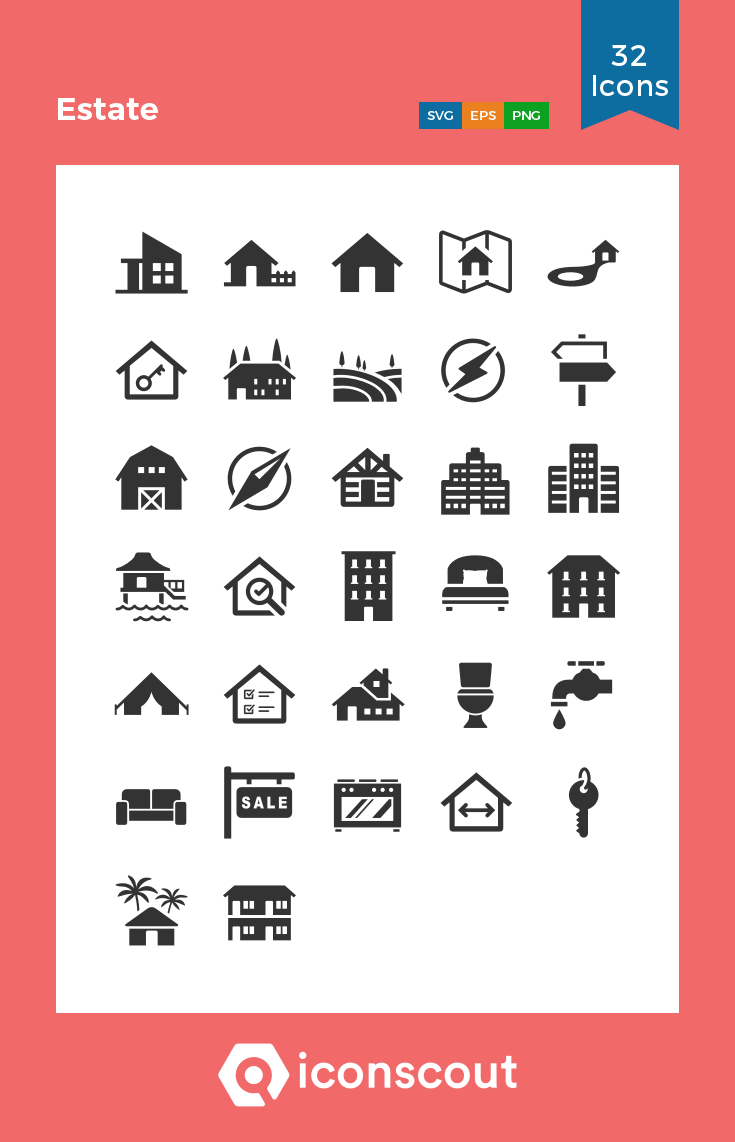 Download Estate Icon Pack Available In Svg Png Eps Ai Icon Fonts In 2020 Icon Pack Icon Icon Font