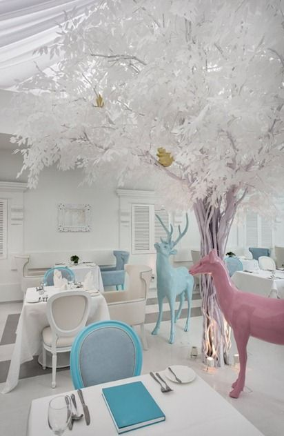 interior design dining room hotel white whimsical Macalister Mansion Penang Ministry of Design
