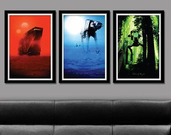 Force Inspired Star Wars Star Wars Inspirited Sunset Collection Plus Force Awakens Long Series 12 X 36 Inches Print 333 Star Wars Inspired Star Wars New Art