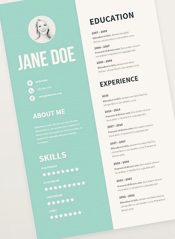 Free Resume Templates Graphic Artist Resume Pinterest Resume