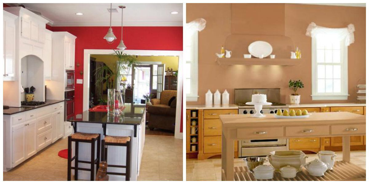 Kitchen Paint Colors 2020 Best Hues And Color Combinations In Kitchen 30 Photos Interior Interior Color Schemes Interior Paint Colors