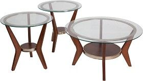 Signature Design by Ashley Furniture Ferretti 3 Piece Occasional Table Set in Dark Brown only$414.95 at http://www.thebestdealsonline.com/