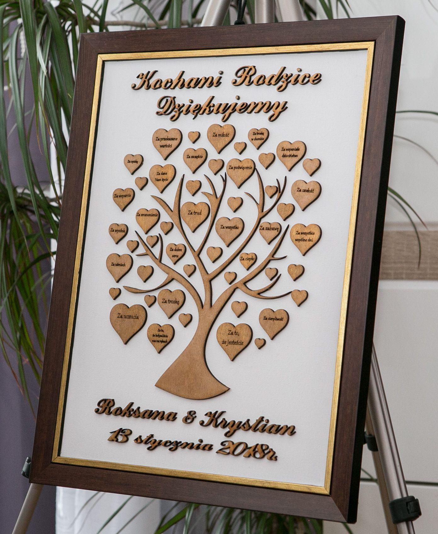 Podziekowania Dla Rodzicow Drzewko Wedding Frame Decor