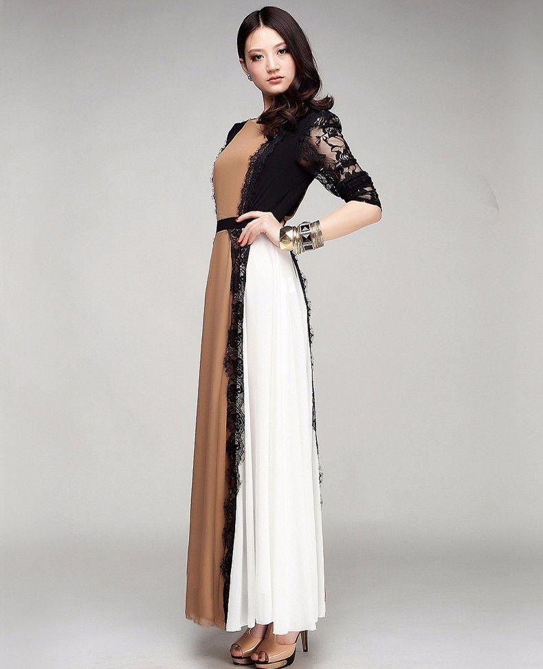 Detailed Long Dress