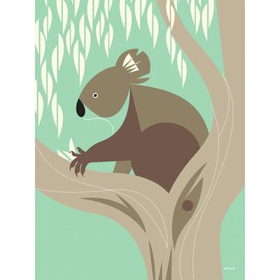 GreenBox Art Wild Things of Oz 'Koala' by Eleanor Grosch Graphic Art on Wrapped Canvas Size: