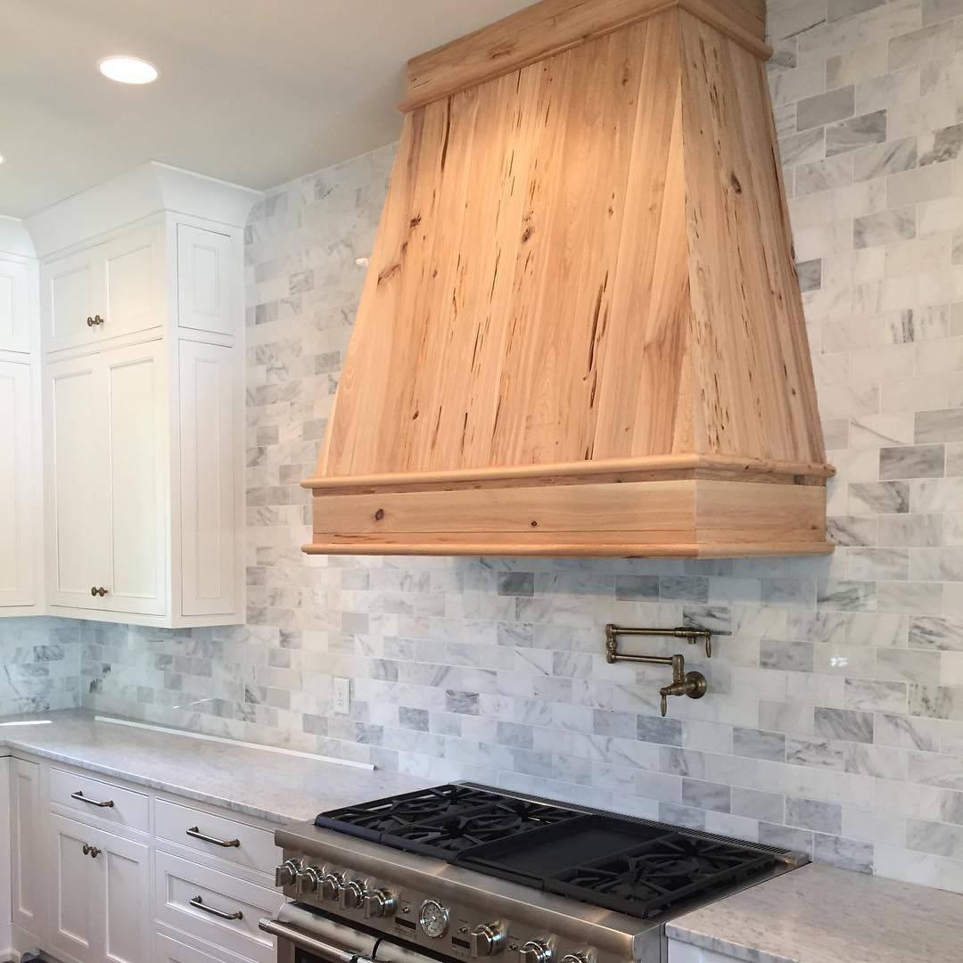 A Sneak Peek Of A White Kitchen And Pecky Cypress Hood That Is Coming Soon Chandelierdevelopment Whitemarble Whitekit Kitchen Remodel White Kitchen Kitchen