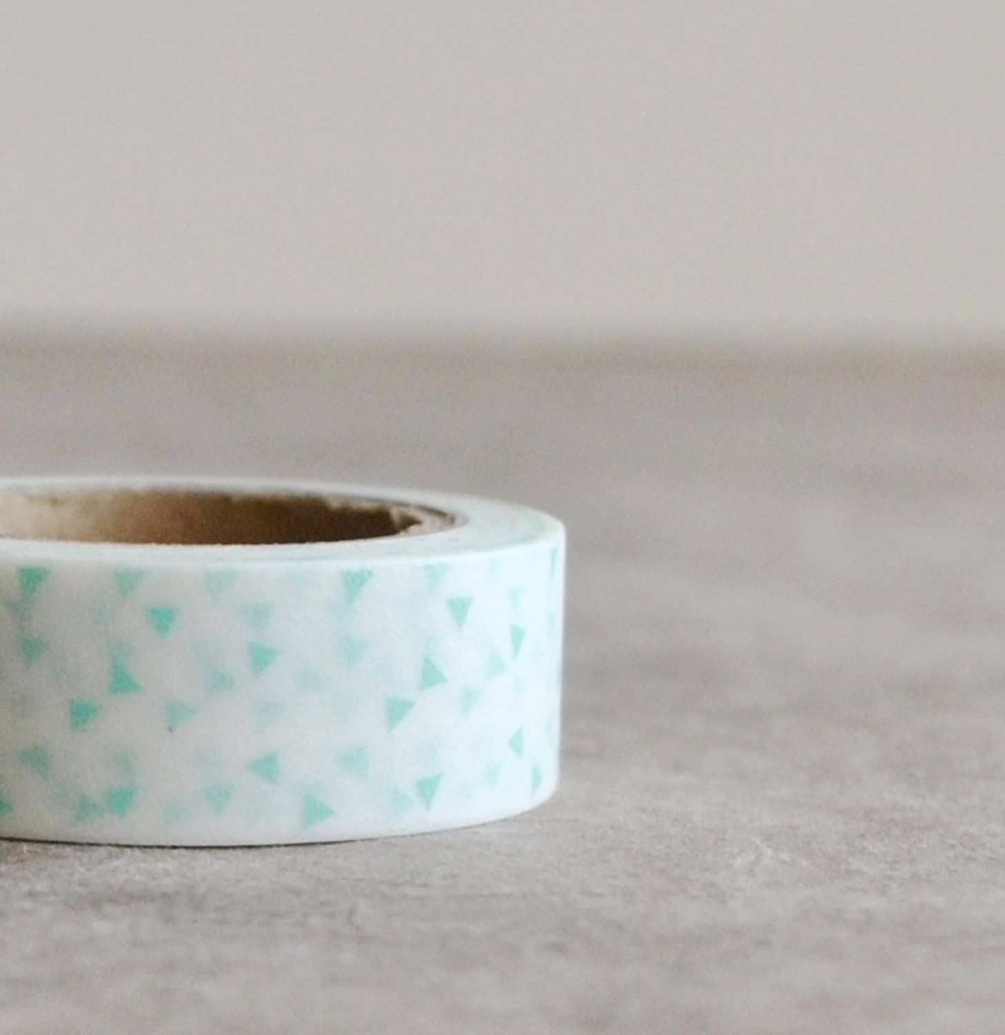 <3 washi tape- white with teal triangle