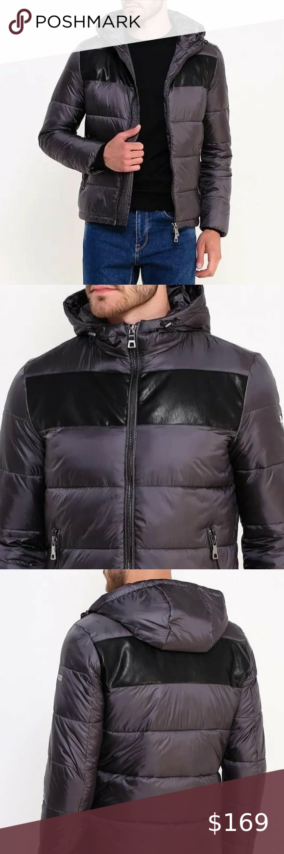 New Guess By Marciano Blk Insulated Puffer Jacket Guess By Marciano Jacket Brands Faux Leather Jackets [ 1740 x 580 Pixel ]