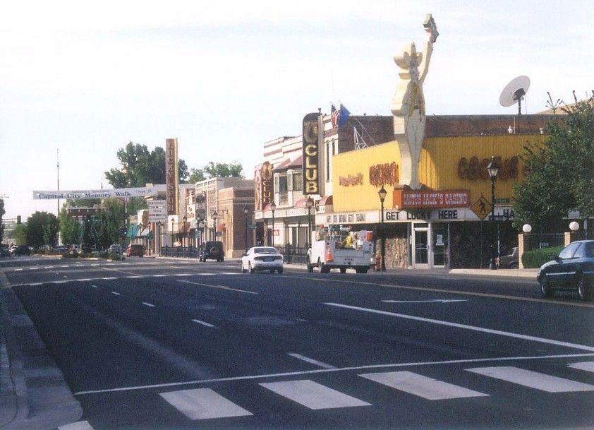 Main Street Through Town Cactus Jacks Was The Favorite Local Spot