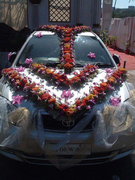 Flower Wedding Car Decorations : Car shaadi wedding cars and decorations