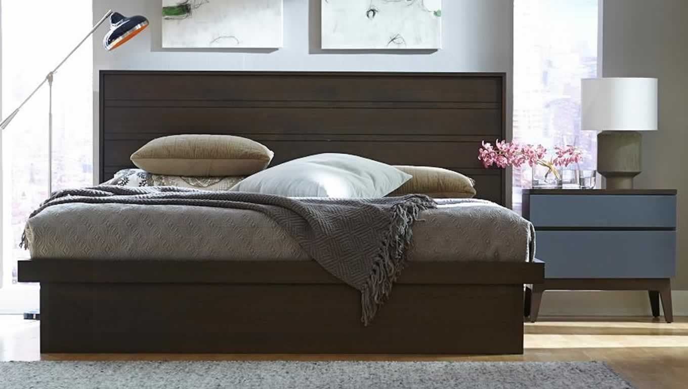 solid walnut bedroom design of serra collection by west bros furniture canada