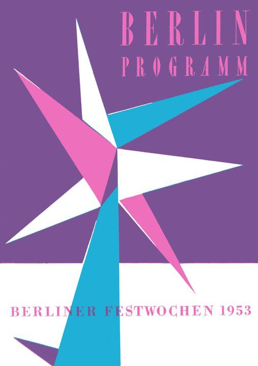 1953 berlin programm broschure designed by ruth and hans albitz.