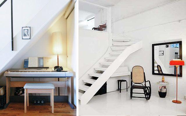 C mo aprovechar espacios bajo la escalera pianos bajo for Como aprovechar espacios pequenos en departamentos