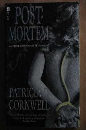 Postmortem by Patricia Cornwell, http://www.amazon.com/dp/0708848516- /ref=cm_sw_r_pi_dp_CQQYpb0V3XT71  Just brought this to read. i love crime novels. don't know how i missed the Scarpetta series!
