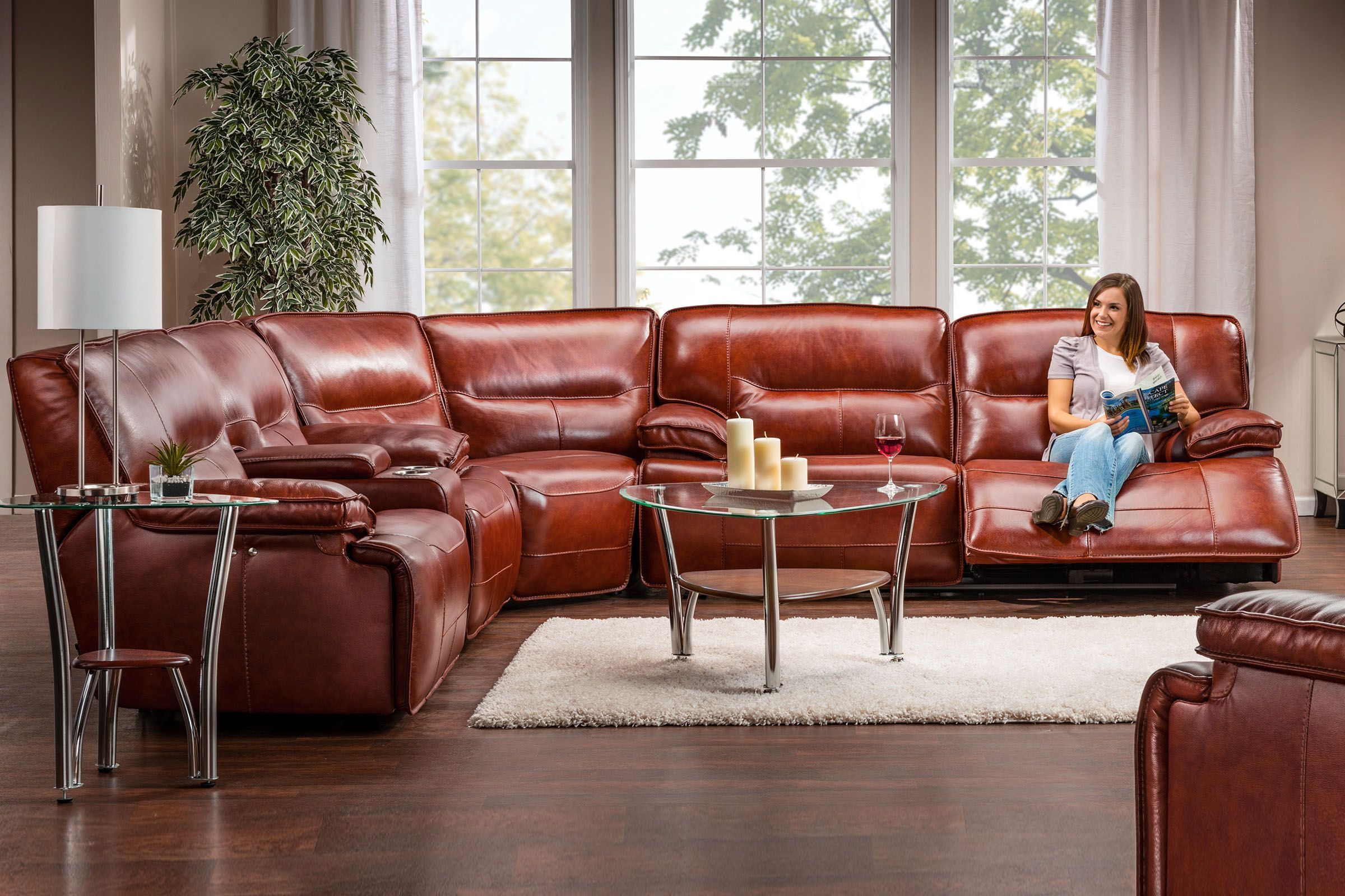 Swell Drake Leather Power Reclining Sectional In 2019 Leather Pabps2019 Chair Design Images Pabps2019Com