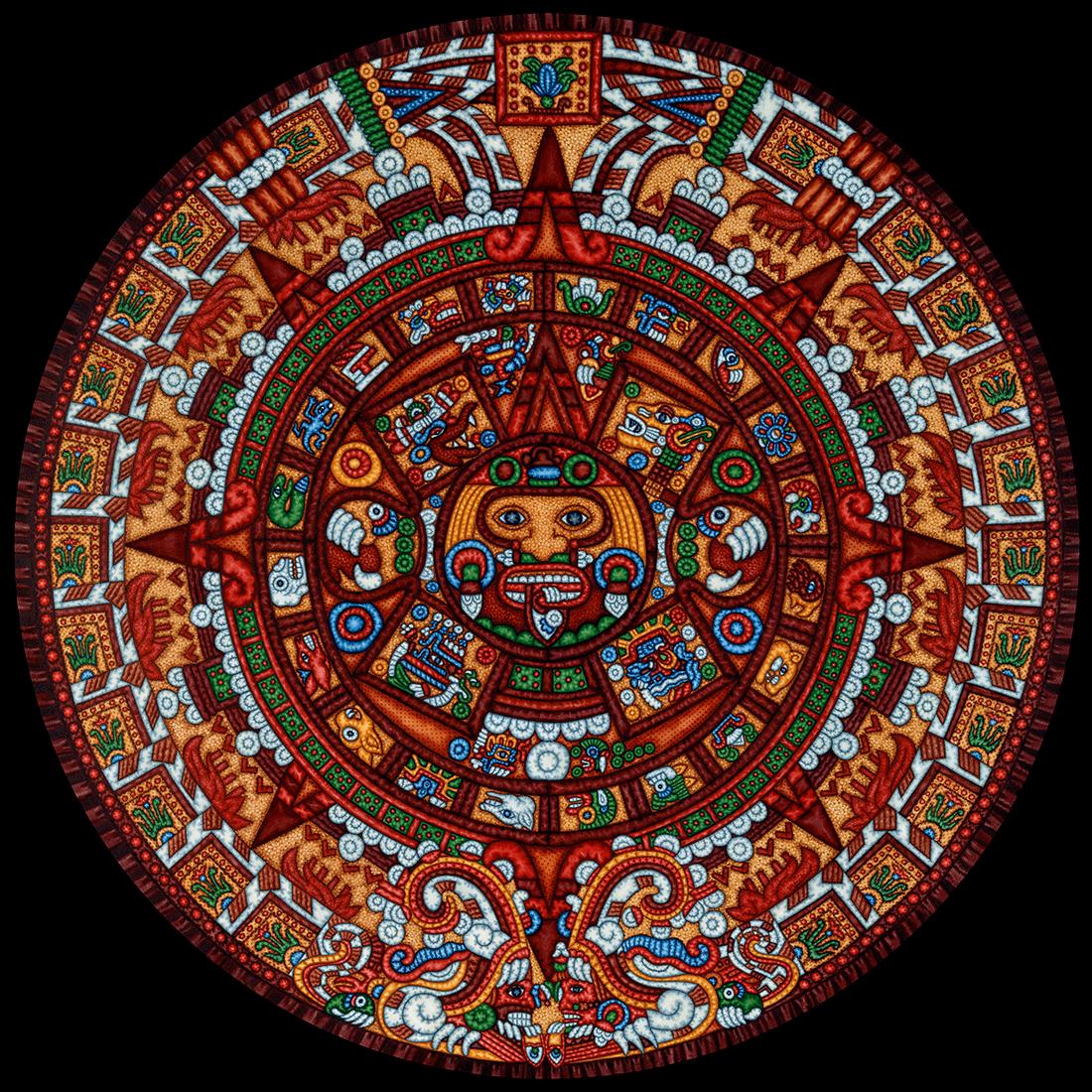 Aztec Calendar Base Image Con Imagenes