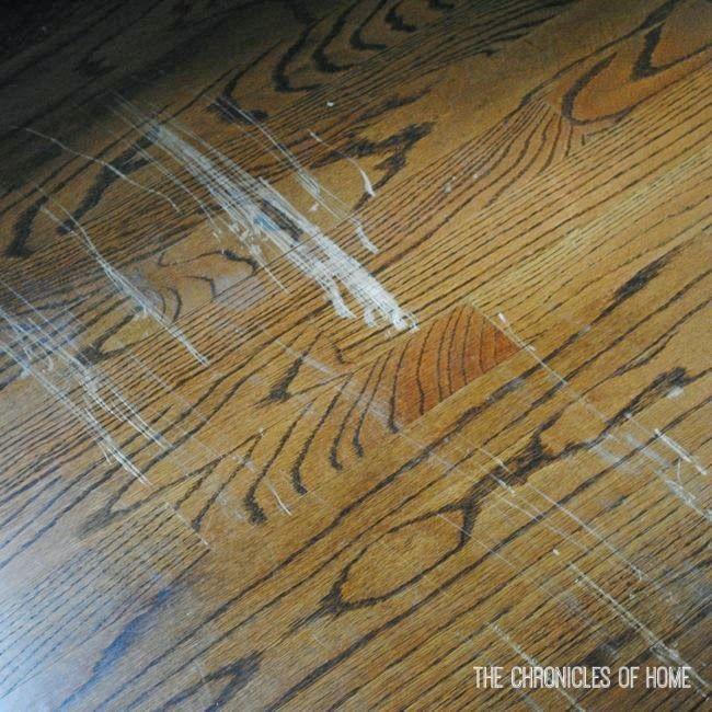 Fix Scratched Hardwood Floors In About Five Minutes Wood Floor