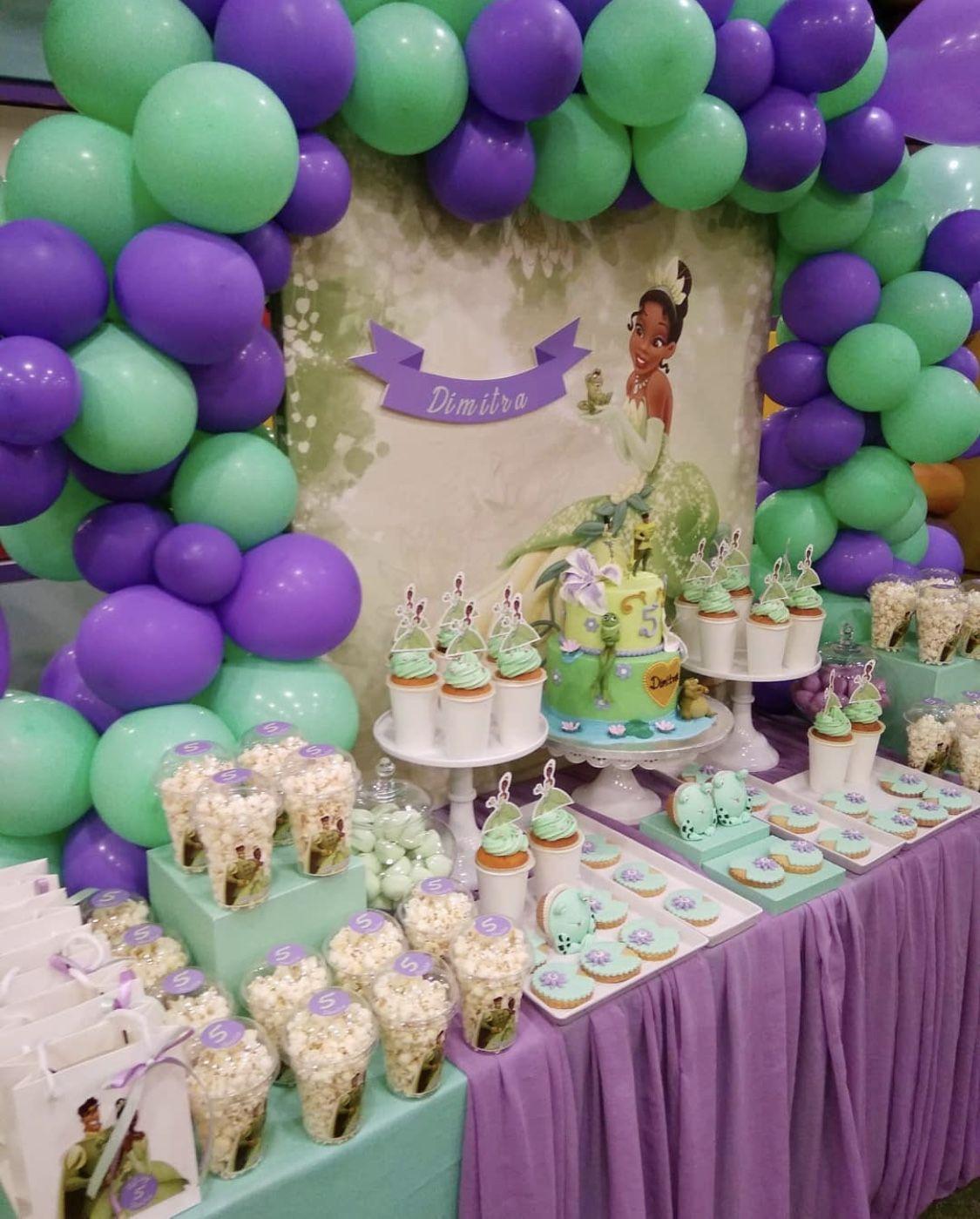 Princess The Frog Party Princess Tiana Birthday Party Tiana Birthday Party Frog Birthday Party