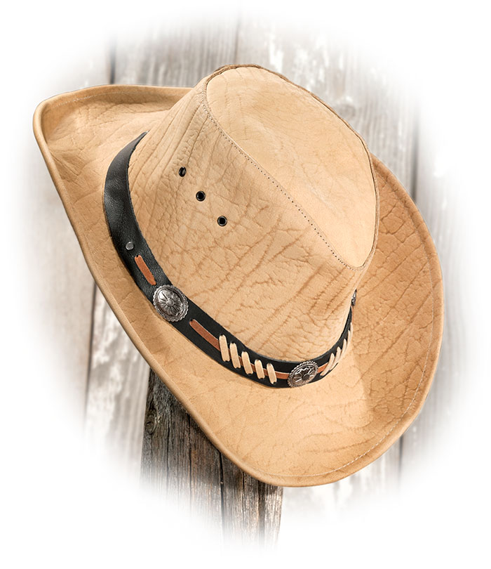Embossed Leather Hat Russell S For Men Leather Hats Embossed Leather Leather