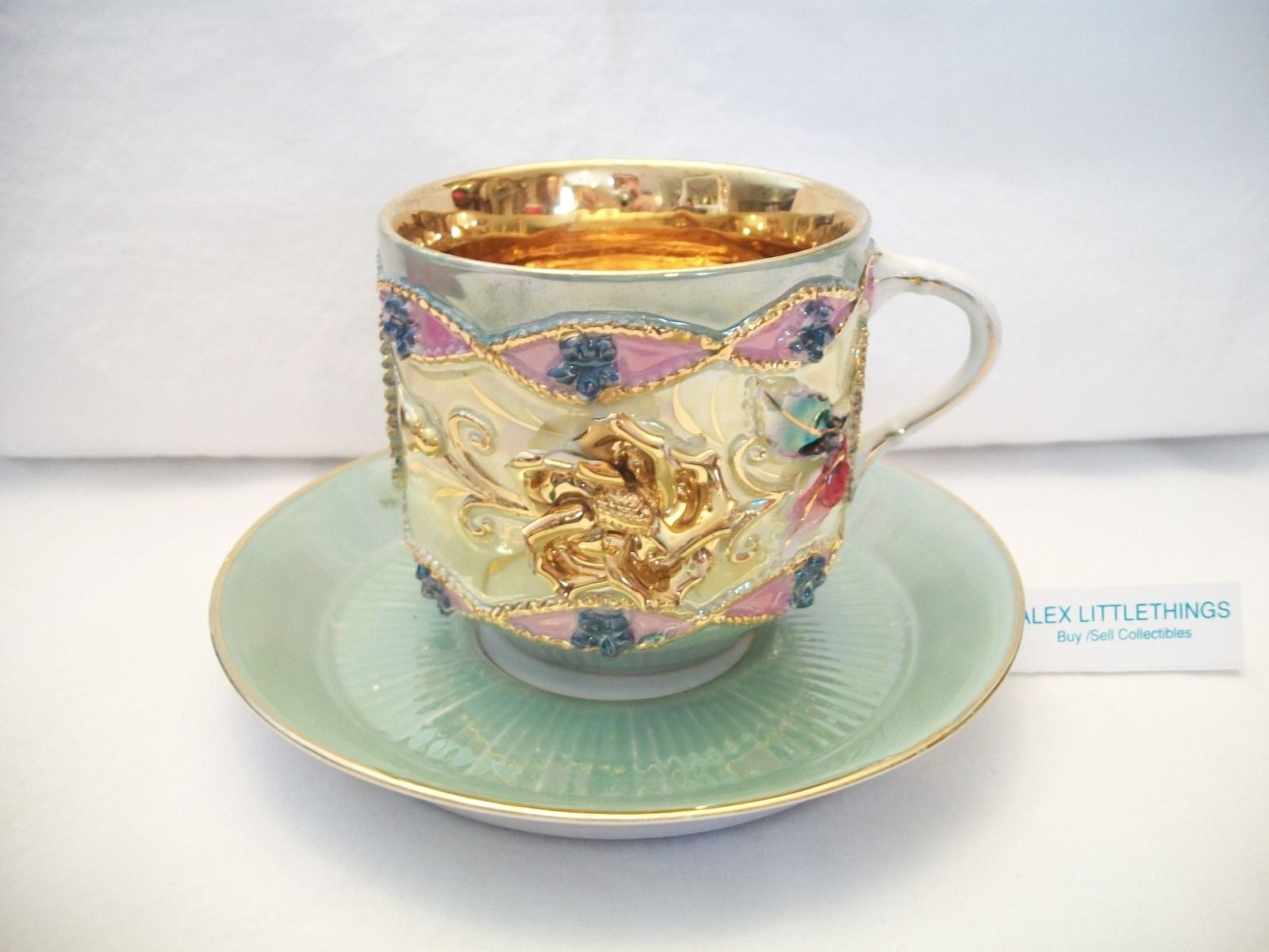 Fancy Cappuccino Cups Rare Vintage Decorative Coffee Tea Mug Cup Made In Germany