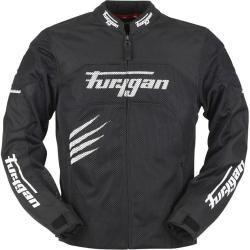 Photo of Furygan Rock Vented Motorcycle Textile Jacket Schwarz Weiss M FuryganFurygan
