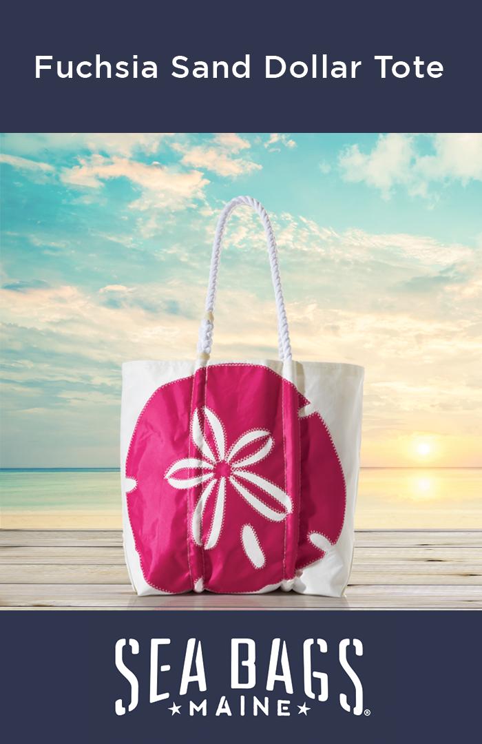 Fuchsia Sand Dollar Tote Tote Handbags Purse And Summer