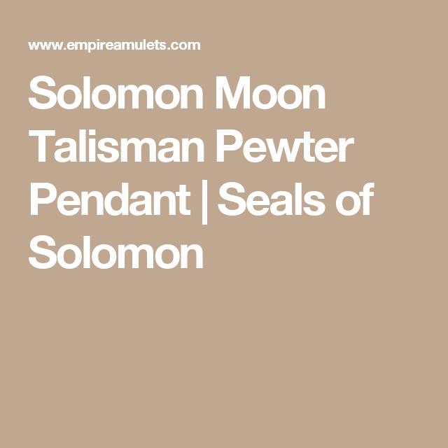 be71d3cf3123 La Luna · Solomon Moon Talisman Pewter Pendant