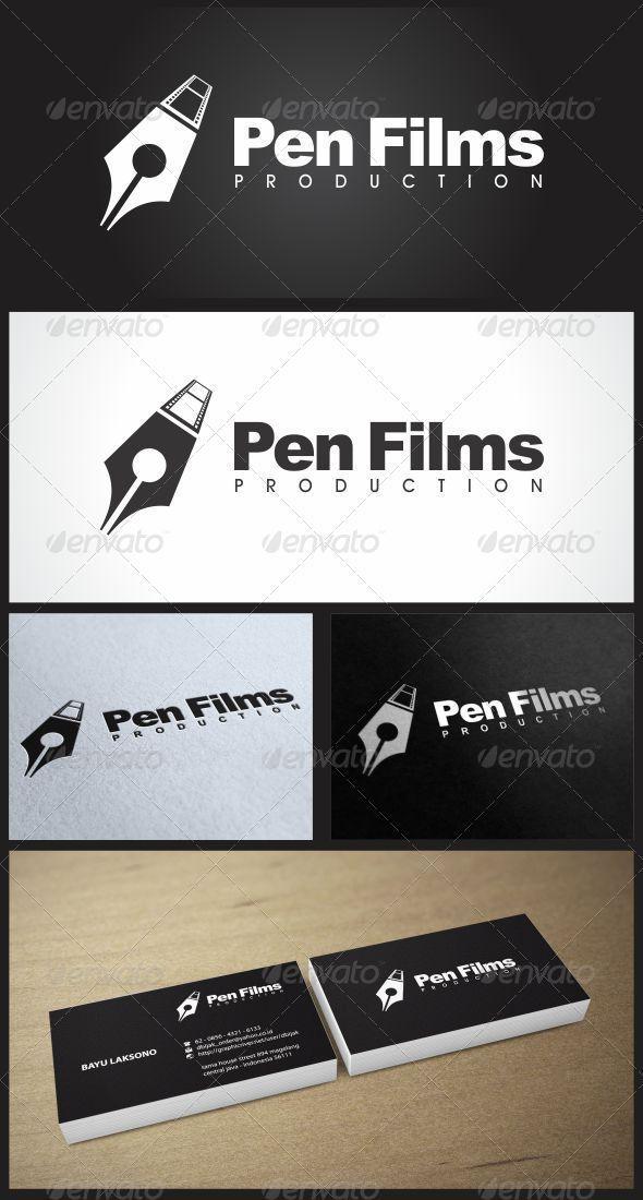 Pen Films Logo Design Logo Templates Film Logo Logos Design