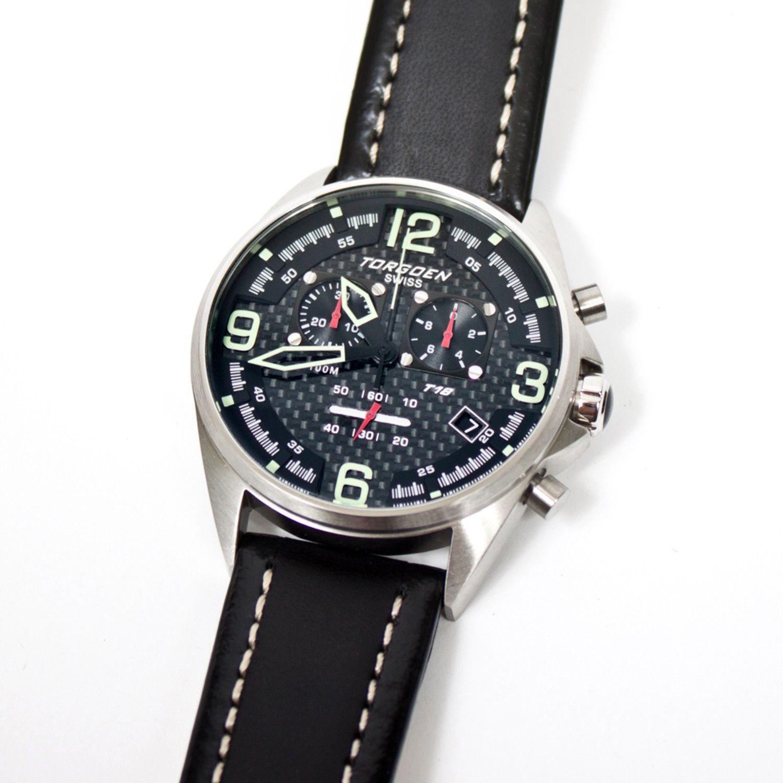 Torgoen T18101 Carbon Fiber Watch
